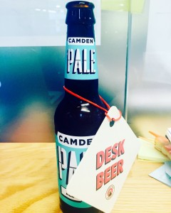 Campden Desk Beer dropped at We Work the day after Brexit.